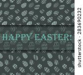 easter greeting template with... | Shutterstock .eps vector #283690232