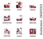 set of lovely and vector...   Shutterstock .eps vector #283692515