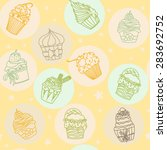 hand drawn vector seamless...   Shutterstock .eps vector #283692752
