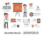 business man meeting plan... | Shutterstock .eps vector #283692815
