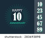 happy anniversary sign with... | Shutterstock .eps vector #283693898