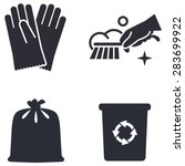 cleaning vector icon | Shutterstock .eps vector #283699922