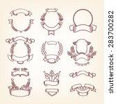 ribbon banner   for decoration  ... | Shutterstock .eps vector #283700282
