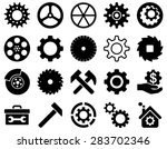 gears and service icon set. | Shutterstock .eps vector #283702346