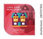 building flat icon with long... | Shutterstock .eps vector #283707302
