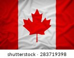 canada flag on the fabric... | Shutterstock . vector #283719398