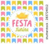 festa junina   vector... | Shutterstock .eps vector #283724012