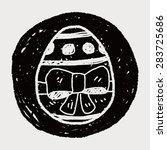 easter egg doodle | Shutterstock .eps vector #283725686