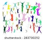 isolated over white hurray team.... | Shutterstock .eps vector #283730252