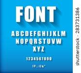 3d font.  vector illustration.  | Shutterstock .eps vector #283731386