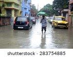 Water Log Street Of Calcutta...