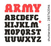 serif geometric font in... | Shutterstock .eps vector #283762046