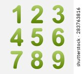 vector number set. | Shutterstock .eps vector #283763816