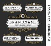 vintage badge and labels brand... | Shutterstock .eps vector #283767275