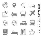 vector icon symbol of travel... | Shutterstock .eps vector #283775402