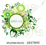 floral background | Shutterstock .eps vector #2837890