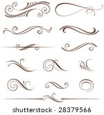 vectorized scroll design.... | Shutterstock .eps vector #28379566