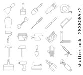 set of linear icons of... | Shutterstock .eps vector #283808972