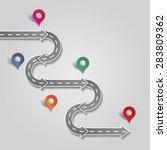 infographic design template.... | Shutterstock . vector #283809362