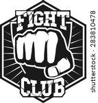 fight club mma ufc mixed... | Shutterstock .eps vector #283810478