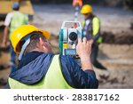 Surveyor Engineer Worker Makin...