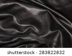 Black Leather Background In Th...