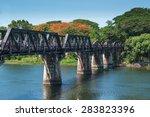 bridge river kwai  kanchanaburi ...   Shutterstock . vector #283823396