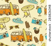 retro summer vacation seamless... | Shutterstock .eps vector #283826348