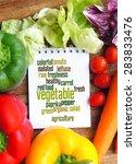 vegetable word cloud... | Shutterstock . vector #283833476