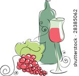 red wine | Shutterstock .eps vector #28385062