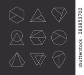 set of hipster icons  geometric ... | Shutterstock .eps vector #283853702