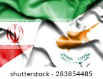 waving flag of cyprus and iran  | Shutterstock . vector #283854485