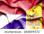 waving flag of andorra and... | Shutterstock . vector #283859372