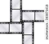 Vector Film Strips Crosswise....
