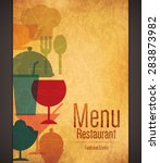 restaurant menu design. vector... | Shutterstock .eps vector #283873982