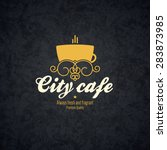 restaurant menu design. vector... | Shutterstock .eps vector #283873985