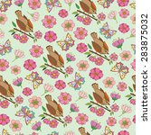 vector seamless pattern with... | Shutterstock .eps vector #283875032