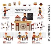 infographic coffee shop vector...