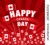 happy canada day  | Shutterstock .eps vector #283882052