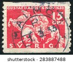sweden   circa 1932  stamp... | Shutterstock . vector #283887488