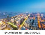 bird view at wuhan china.... | Shutterstock . vector #283890428