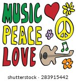 doodle peace  love and music ...