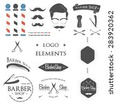 vintage barber shop logo set ... | Shutterstock .eps vector #283920362
