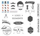 vintage barber shop logo set ... | Shutterstock .eps vector #283920362