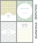 set of invitation cards in... | Shutterstock .eps vector #283927052