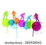 cross country skiing vector...   Shutterstock .eps vector #283928042