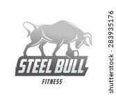 steel bull fitness club mascot | Shutterstock .eps vector #283935176