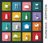 kitchen flat icons for web ... | Shutterstock . vector #283943246