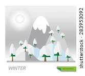 winter season vector concept of ... | Shutterstock .eps vector #283953092