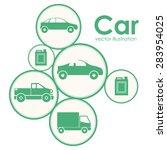 transportation design over... | Shutterstock .eps vector #283954025